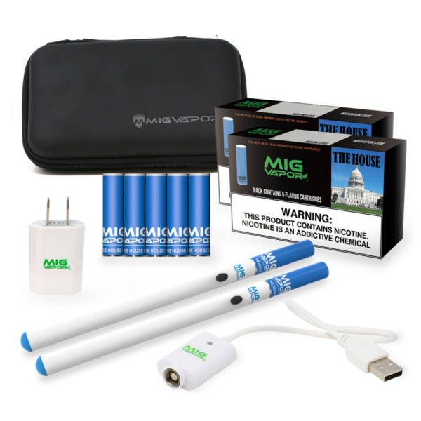 Mig Cig Standard eCig Starter Bundle With Disposable Carts or tanks